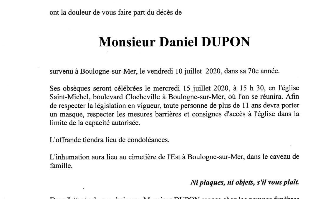 Monsieur Daniel DUPON