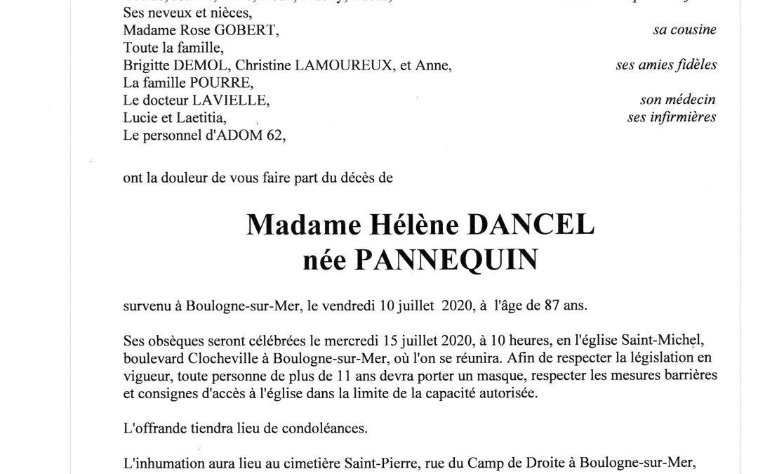 Madame Hélène DANCEL