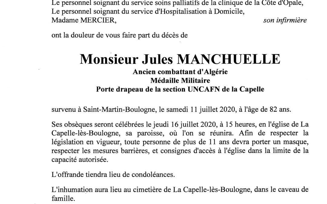 Monsieur Jules MANCHUELLE