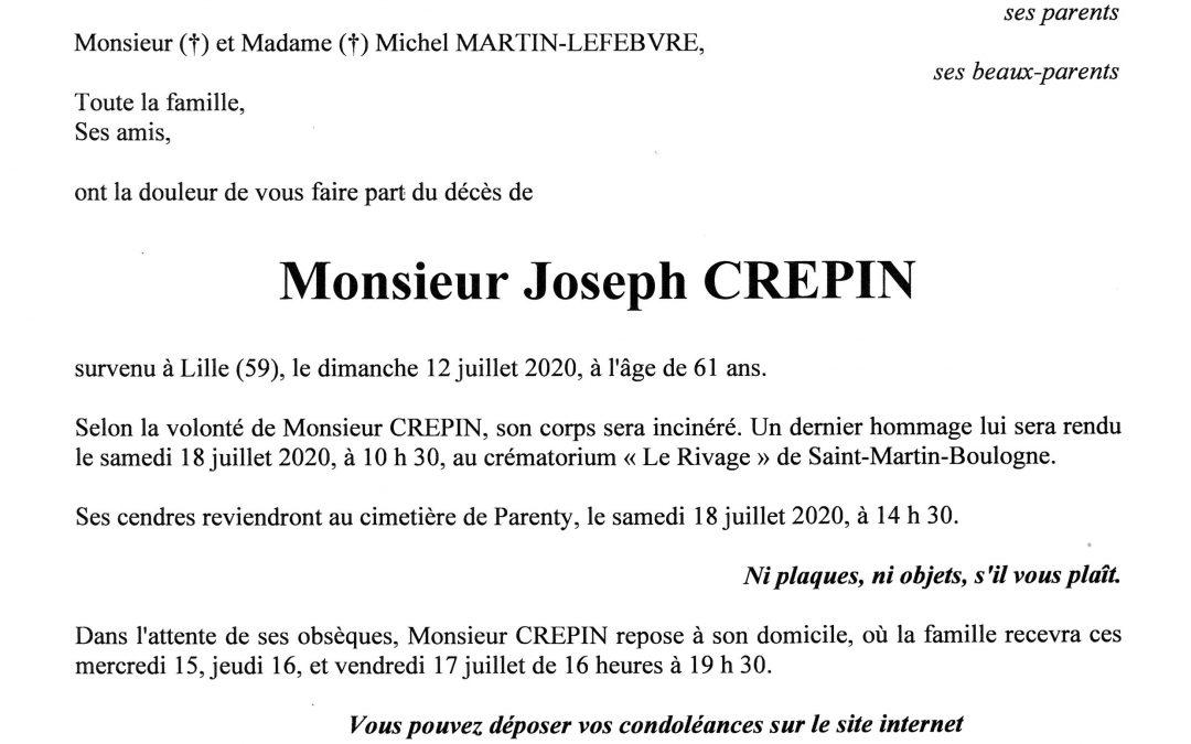 Monsieur Joseph CREPIN