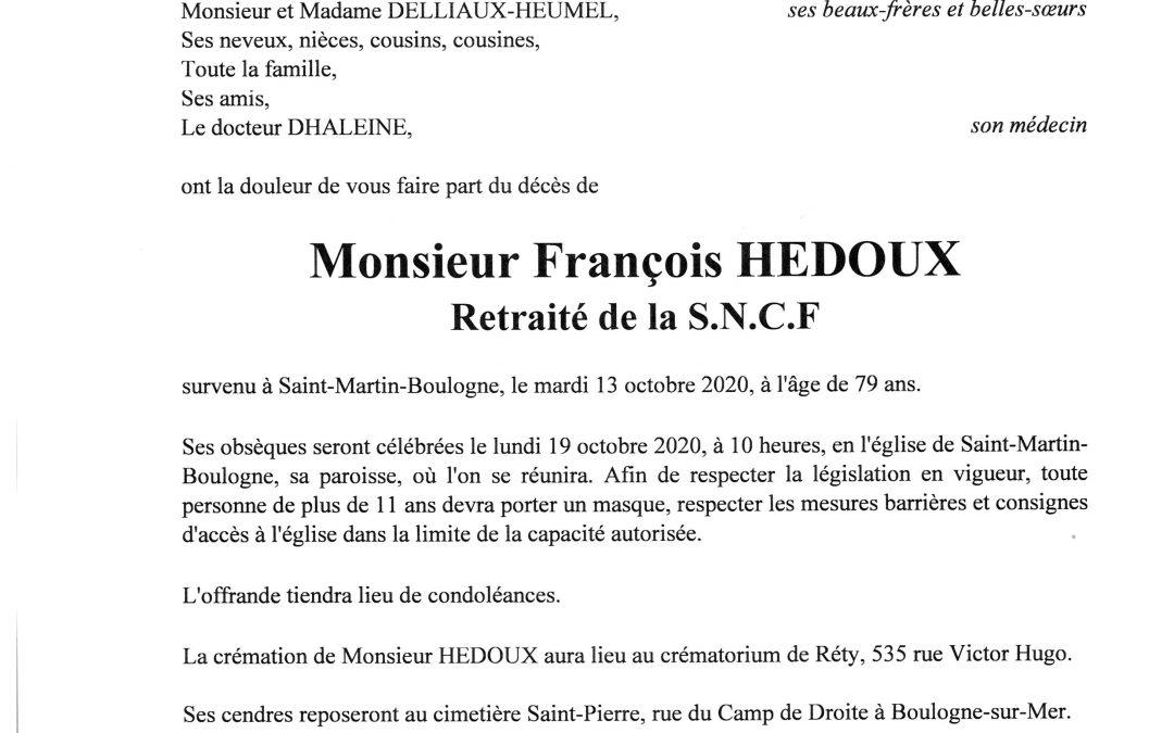 Monsieur François HEDOUX