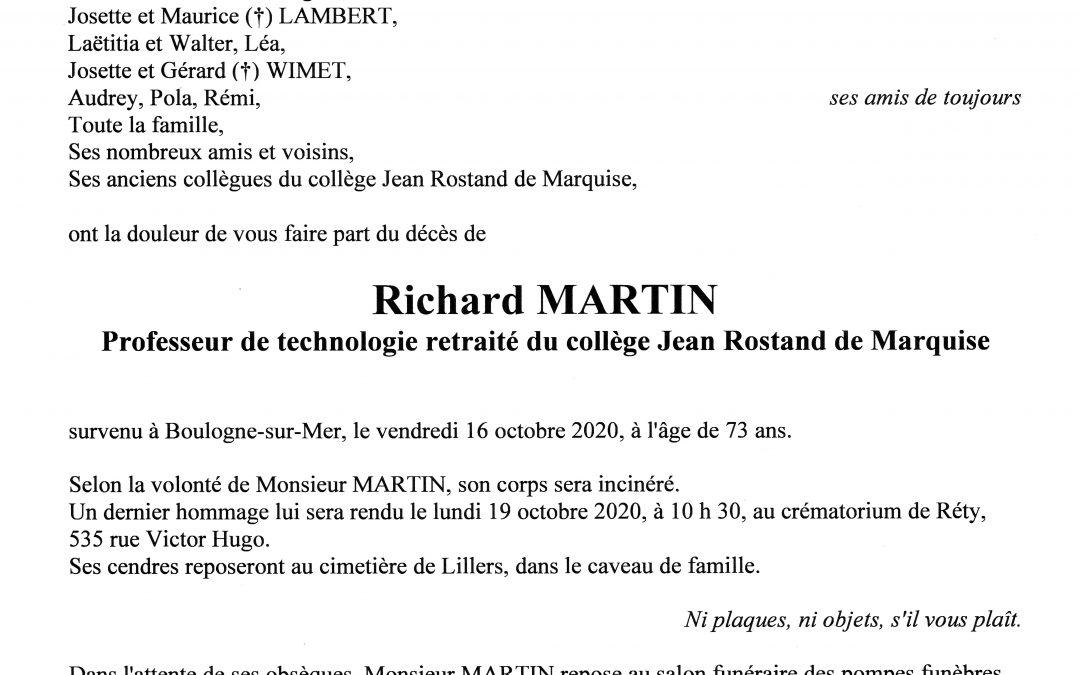 Monsieur Richard MARTIN