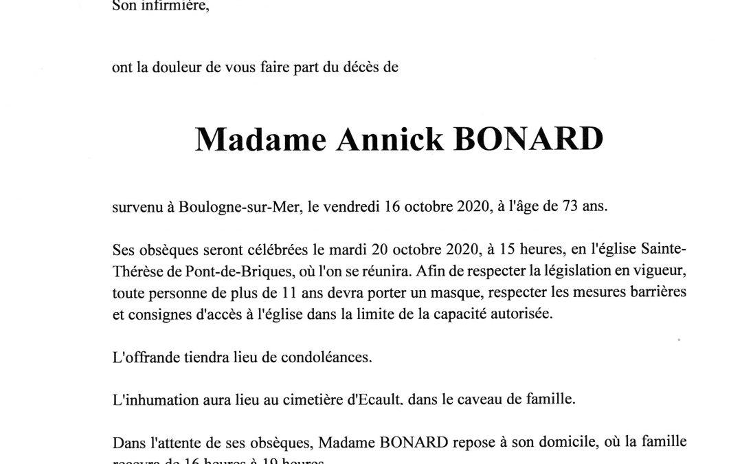 Madame Annick BONARD