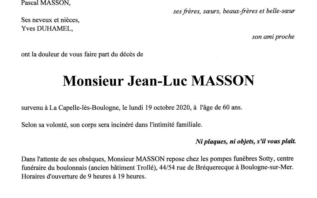 Monsieur Jean-Luc MASSON